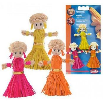 Nobby / Нобби Игрушка для грызунов Куклы 8см 3шт/уп (из дерева и листьев кукурузы) 80171