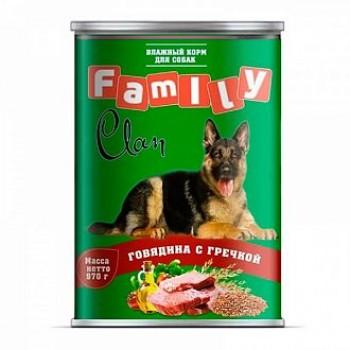 Clan / Клан Family консервы д/собак говядина с гречкой, 0,97 кг