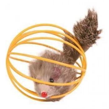 "Trixie / Трикси Набор игрушек д/кошек ""Мышь в проволочном шаре"" ф6cм*24шт 4115"