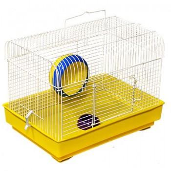 Зооник Клетка для грызунов (колесо+миска) 32х22,5х23