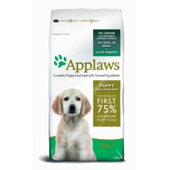 """Applaws / Эпплаус для щенков малых и средних пород """"Курица/овощи: 75/25%"""" 2 кг"""