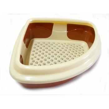Туалет Догман д/кошек Триплекс угловой 40x40x17