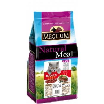 MEGLIUM / МЕГЛИУМ Adult Корм сух.15 кг говядина для кошек MGS0515