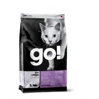 Go! / Гоу! для котят и кошек - 4 вида Мяса: Курица, Индейка, Утка и Лосось 1,82 кг