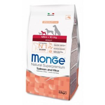 Monge / Монж Dog Speciality Mini корм для взрослых собак мелких пород лосось с рисом 2,5 кг