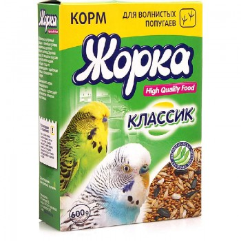 Жорка HQF корм для волнистых попугаев классик 600 гр.
