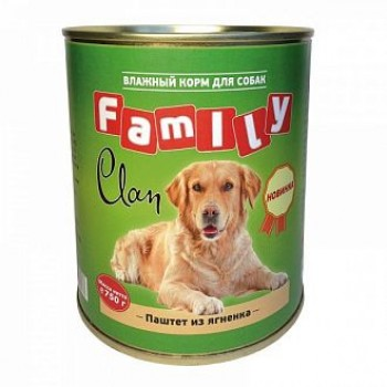 Clan / Клан Family консервы д/собак паштет из ягнёнка, 0,75 кг
