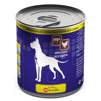 VitAnimals / ВитЭнималс консервы д/собак Мясное 750гр
