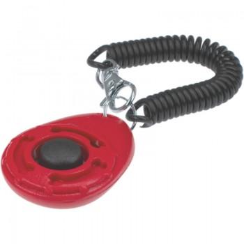 ZooOne Кликер на браслете с карабином (красный)