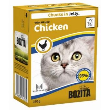 Bozita / Бозита кон.д/кошек Кусочки в желе Рубленая курица 370гр