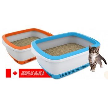 Canada Litter Кошачий туалет с системой защиты от запаха CatEco - серый