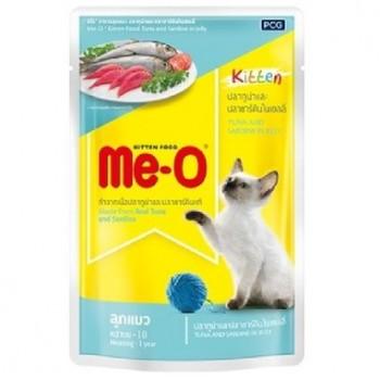 Ме-О Kitten пауч д/котят №1 Тунец и сардины в желе 80г 85805