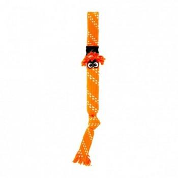 Rogz / Рогз Игрушка веревочная шуршащая SCRUBZ , большая, оранжевый (SCRUBZ ROPE TUG TOY SM)
