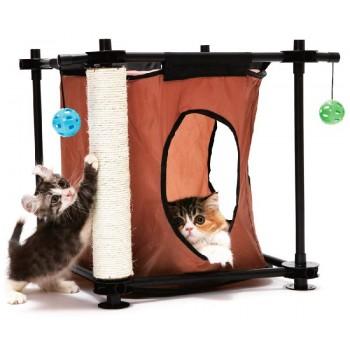 """Kitty City Игровой комплекс с когтеточкой для кошек: Тайное укрытие. """"Hideaway"""": 44*45*45см, сизаль (pl0303)"""