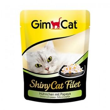 Gimcat / ГимКэт пауч Shiny Cat Filet цыпленок с папайей д/кошек, 70г