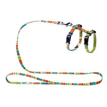 Hunter / Хантер Smart шлейка для кошек и собак Stripes нейлон разноцветная