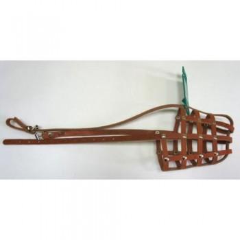 Аркон Намордник кожаный 28, размер 28, цвет коньячный, н28к (33078)