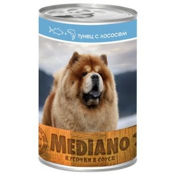 VITA PRO MEDIANO Консервы для собак кусочки в соусе тунец/лосось 405г ж/б /24/ 721641163