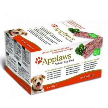 """Applaws / Эпплаус набор для Собак """"Индейка, Говядина, Океаническая рыба"""", 5шт.*150г 0,75 кг"""
