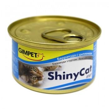 Gimpet / Гимпет Консервы ShinyCat барракудой и цыплёнком в блистере д/кошек, 2*85 г