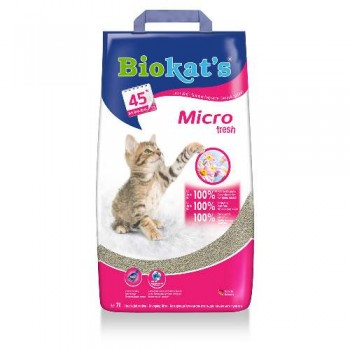 "Biokat's / БиоКэтс наполнитель ""Биокат'с микро""(свежий) д/туалета д/кошек, 7 л"