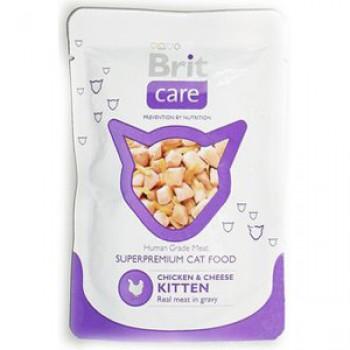 Brit / Брит пауч д/котят Chicken&Cheese Kitten Курица и сыр для котят, 80г