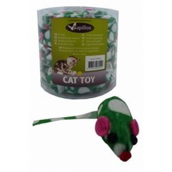 """Papillon / Папиллон Игрушка для кошек """"Зеленая Мышка с погремушкой"""", плюш, 4,5см"""