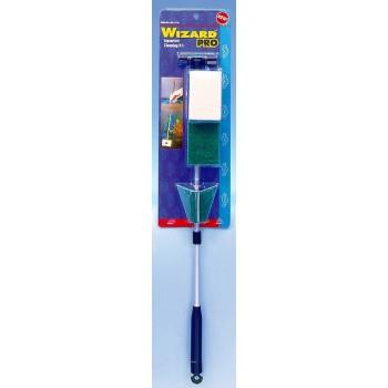 Penn-Plax / Пен-Плакс Очиститель стекол WIZARD PRO выдвижная ручка 55 см с набором скребков и губок (1х12) WZ3