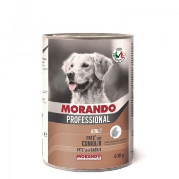 Morando / Морандо Professional консервированный корм для собак паштет с кроликом, 400г, жб