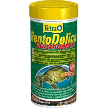 Tetra / Тетра ReptoDelica Grasshoppers лакомство для водных черепах (кузнечики) 250 мл