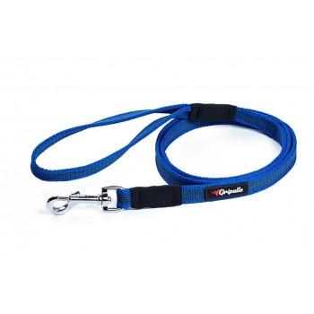 Gripalle / Грипэлле 18-150B 4176 Поводок нейлоновый прорезиненный для собак, стальная фурнитура 18 мм*150 см, Синий