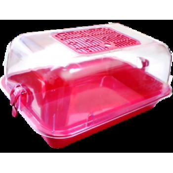 ZOOexpress Террариум средний с пласт. дверкой с комплектацией прозрачный 40*27*18 15032