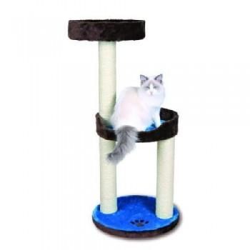 "Trixie / Трикси 43870 Домик для кошки ""Lugo"" высота 103см плюш. коричневый/синий"