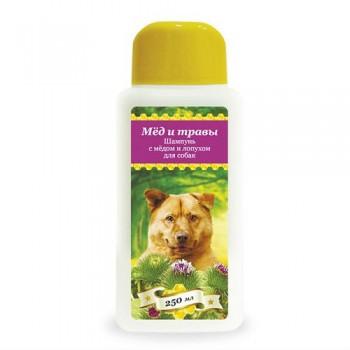 Пчелодар Шампунь с мёдом и лопухом для собак 250 мл