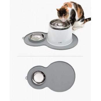 Hagen / Хаген Коврик для фонтанов с миской, серый