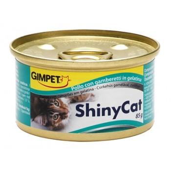 Gimpet / Гимпет Консервы Shiny Cat с цыплёнком и креветками д/кошек, 85г