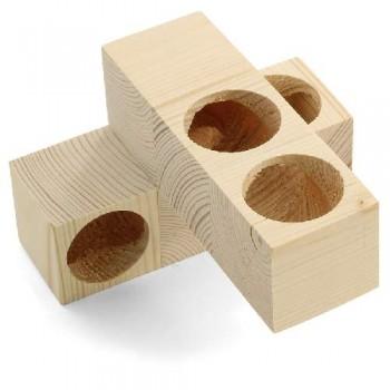 Gamma / Гамма Игрушка-лабиринт для мелких животных деревянный, 135*85*135мм