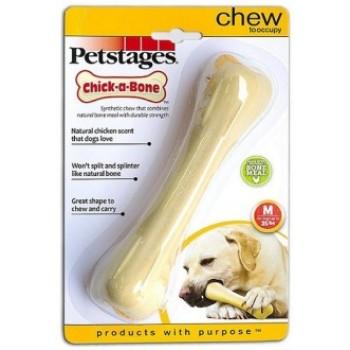 Petstages / Петстейджес игрушка для собак Chick-A-Bone косточка с ароматом курицы 14 см средняя