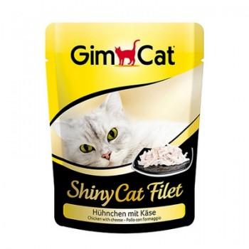 Gimcat / ГимКэт пауч Shiny Cat Filet цыпленок с сыром д/кошек, 70г
