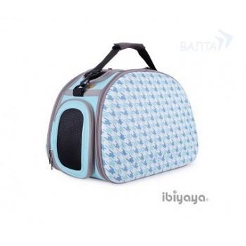 Ibbiyaya складная сумка-переноска для собак и кошек до 6 кг голубая