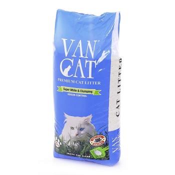 """Van Cat Комкующийся Наполнитель """"100% Натуральный"""", без пыли, пакет (Natural) 20 кг"""