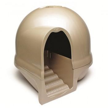 Booda dome Туалет-купол с лесенкой чистые лапки д/домашних животных (золотистый) 57x57x50 см