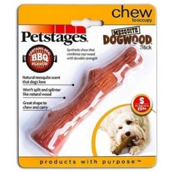 Petstages / Петстейджес игрушка для собак Mesquite Dogwood с ароматом барбекю 16 см маленькая