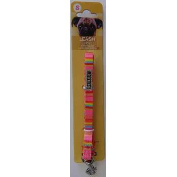 """Petler / Петлер Поводок для собак """"Радуга"""" розовый разм.S (1см х 122см)"""