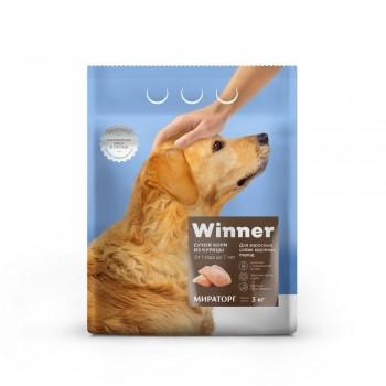 Winner / Виннер Корм сухой полнорационный для собак Крупных пород из Курицы, 3 кг