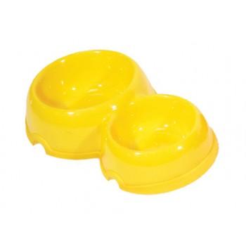 Yami-Yami / Ями-Ями Двойная круглая миска для собак пластиковая, 200 и 350мл (2312)