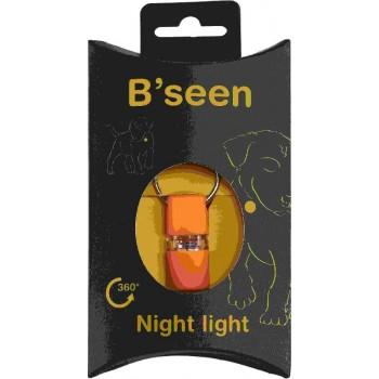"""Kruuse брелок на ошейник мигающий """"B'Seen 360"""" оранжевый"""