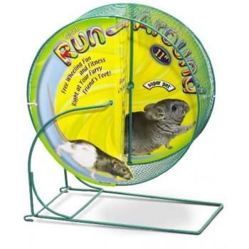 Super Pet Колесо с сеткой на подставке д/грызуна, мет., 27,94 см 61396