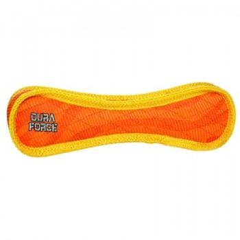 Tuffy / Таффи Супер прочная игрушка для собак Косточка, оранжевый с желтым, прочность 9/10