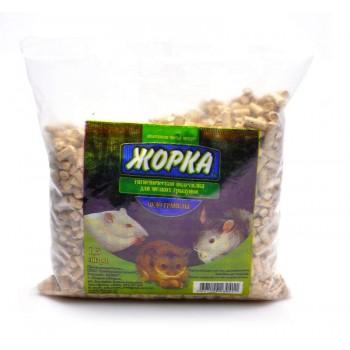 """Жорка Древесный наполнитель """"Чудо гранулы"""" для мелких грызунов (6мм), 1,5л 700 гр."""